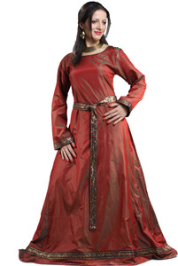 Isabel Silk Renaissance Kleid - Red – Bild 1