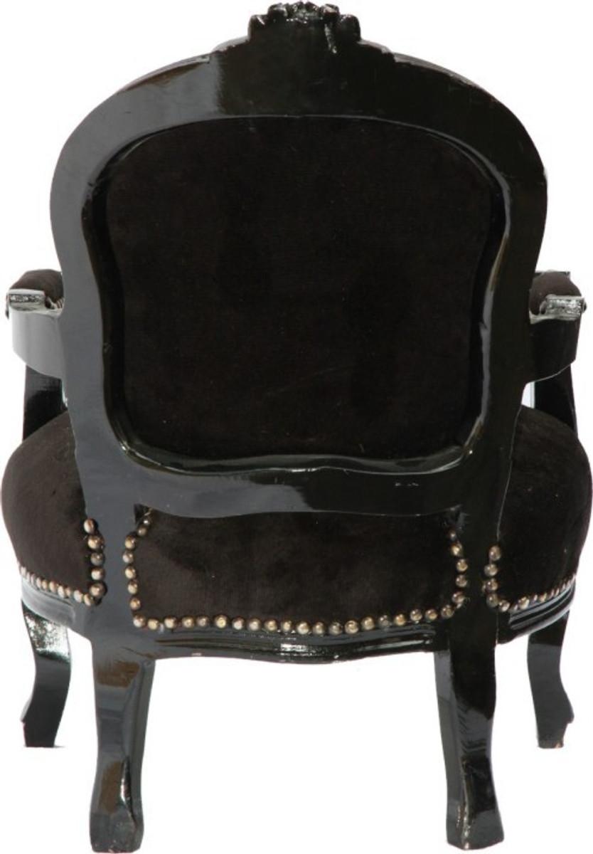 casa padrino barock kinder stuhl schwarz schwarz armlehnstuhl casa padrino farbwelten schwarz. Black Bedroom Furniture Sets. Home Design Ideas