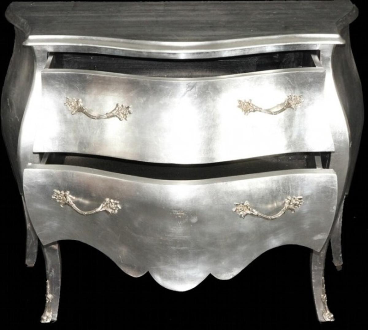 casa padrino barock kommode silber 100cm m bel schrank kommoden barock kommoden. Black Bedroom Furniture Sets. Home Design Ideas