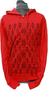 Etnies Skateboard Pullover Zip Hood Failed Red sweater – Bild 1
