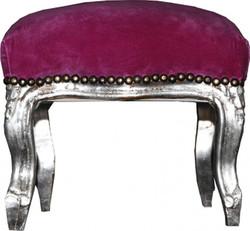 Baroque ottoman Purple / Silver