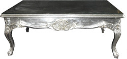 Baroque silver coffee table 120 x 80 cm