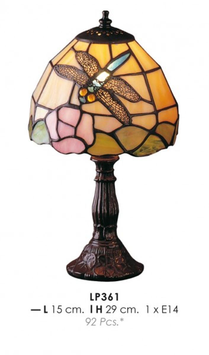tiffany tischleuchte durchmesser 15cm h he 29cm lp361 leuchte leuchten l ster lampen. Black Bedroom Furniture Sets. Home Design Ideas