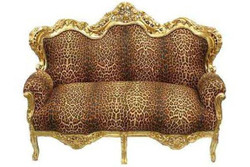 "Baroque sofa set ""master"" Leopard / Gold"