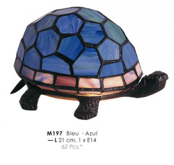 Deco Tiffany lamp Durchmessr 21cm M197 Tortoise Blue Lamp