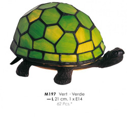 Tiffany ceiling lamp diameter 21 cm M 197 green turtle lamp lamp
