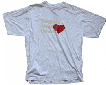 "General Research Skateboard T-Shirt ""Virginia is for Lovers""  Grey  1B Ware"