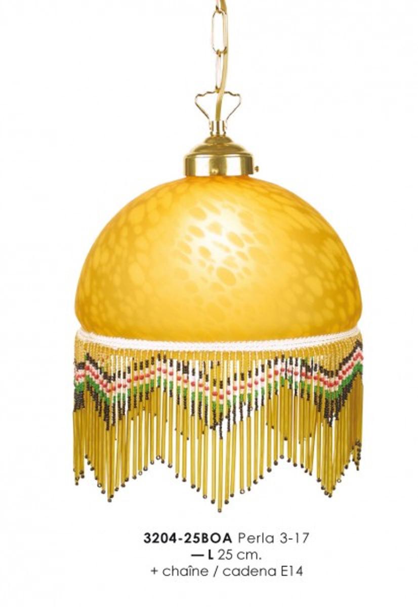 h ngeleuchte im landhausstil mit glasfransen 3204 25boa 3 17 gelbleuchte lampe leuchten. Black Bedroom Furniture Sets. Home Design Ideas