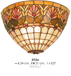 Handmade Tiffany Wall Lamp by Casa Padrino diameter 34 cm, height 21 cm - Light Lamp