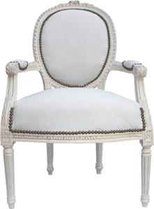 Baroque salon chair cream / cream Mod2 – Bild 1