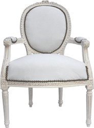 Baroque salon chair cream / cream Mod2