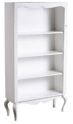 Baroque cabinet shelves white glossy 180 x 95cm