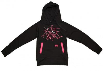 8mileshigh Skateboard Basic Hoody Sweet Scripties Black/Pink Sweater – Bild 1