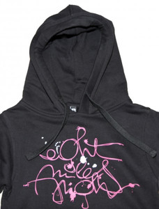 8mileshigh Skateboard Basic Hoody Sweet Scripties Black/Pink Sweater – Bild 2