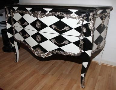 barock kommode karo design 129cm unikat kommoden. Black Bedroom Furniture Sets. Home Design Ideas