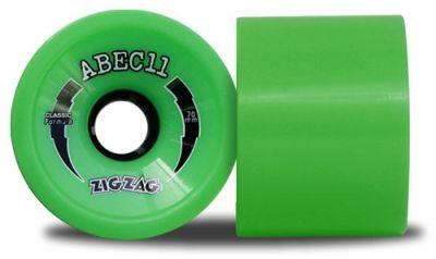 ABEC 11 Classic ZigZags 78A 70mm Longboard Wheel Set (4 Rollen)
