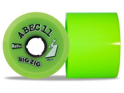 ABEC 11 Reflex BigZigs Lime 80A 75mm Longboard Rollen Set (4 Rollen) - Longboard Wheels
