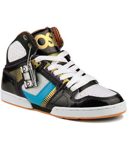 Osiris Skateboard Schuhe Bronx Slim Ultra Black/Cyan/Orange/Ultra