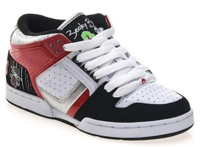 Osiris Skateboard Schuhe South Bronx Lucylie/Soaked/White/Black/Red - Hip Hop Schuhe