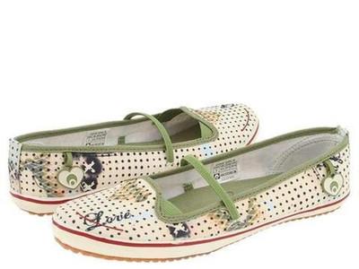Osiris Skateboard Schuhe / Slip Ons Cove Girls Natural/Love/Kelli Murray - Ballerina Shoes - Ballerinas