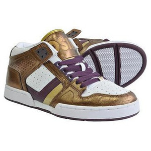 Osiris South Bronx Skate Shoes Girls Purple / White / Gold