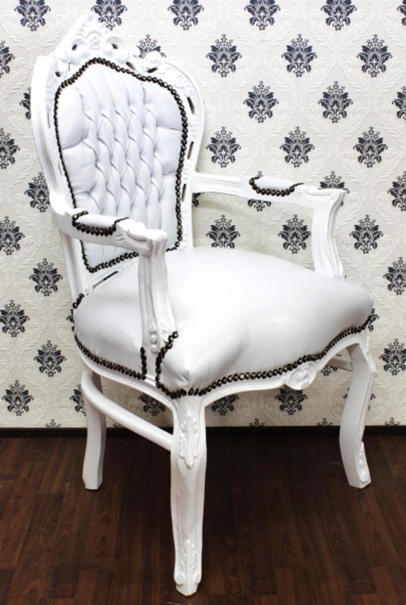 barock esszimmer stuhl mit armlehnen wei wei st hle barock st hle esszimmerst hle mit armlehne. Black Bedroom Furniture Sets. Home Design Ideas