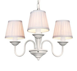Baroque pendant lamp with pleated shade 3-burner gas cooker, white light bulb