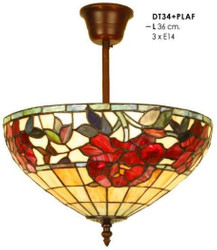 Tiffany ceiling lamp 36 cm diameter light bulb