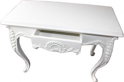 casa padrino konsolentisch wei mit schublade damen schreibtisch sekret r konsole konsolen. Black Bedroom Furniture Sets. Home Design Ideas