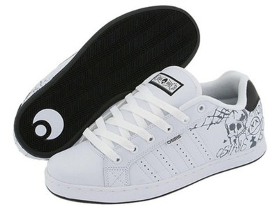 Osiris Skateboard Schuhe Troma White/Black/Horror Show