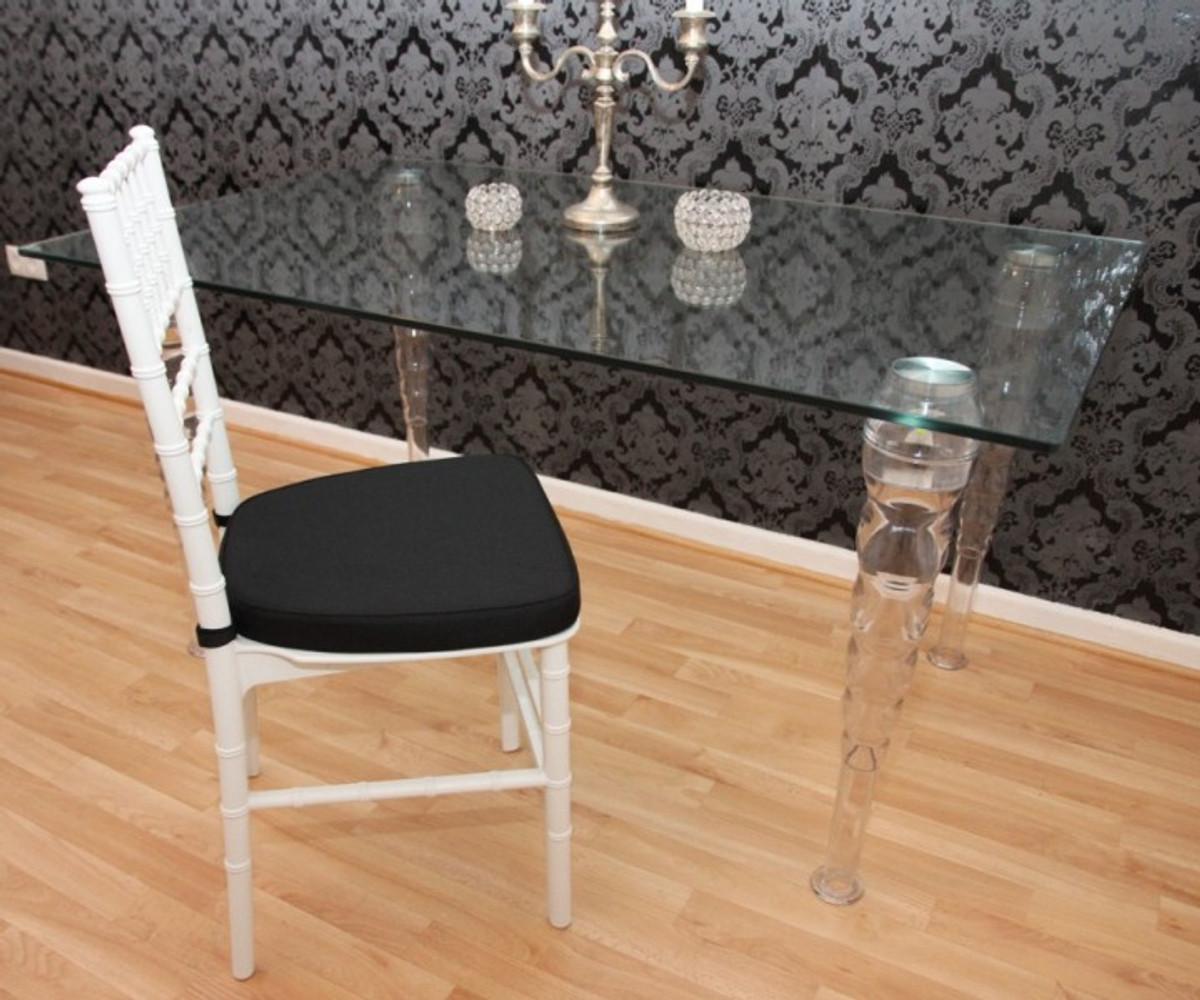casa padrino designer acryl stuhl inkl sitzkissen wei schwarz ghost chair white. Black Bedroom Furniture Sets. Home Design Ideas