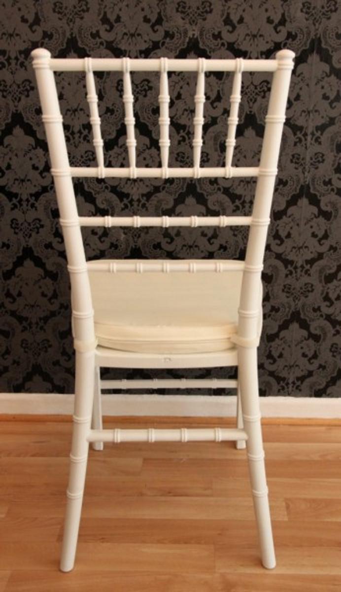 Casa Padrino Designer Acryl Stuhl inkl Sitzkissen Weiß/Creme - Ghost Chair white - Polycarbonat Möbel - Acryl Möbel - Geisterstuhl 4