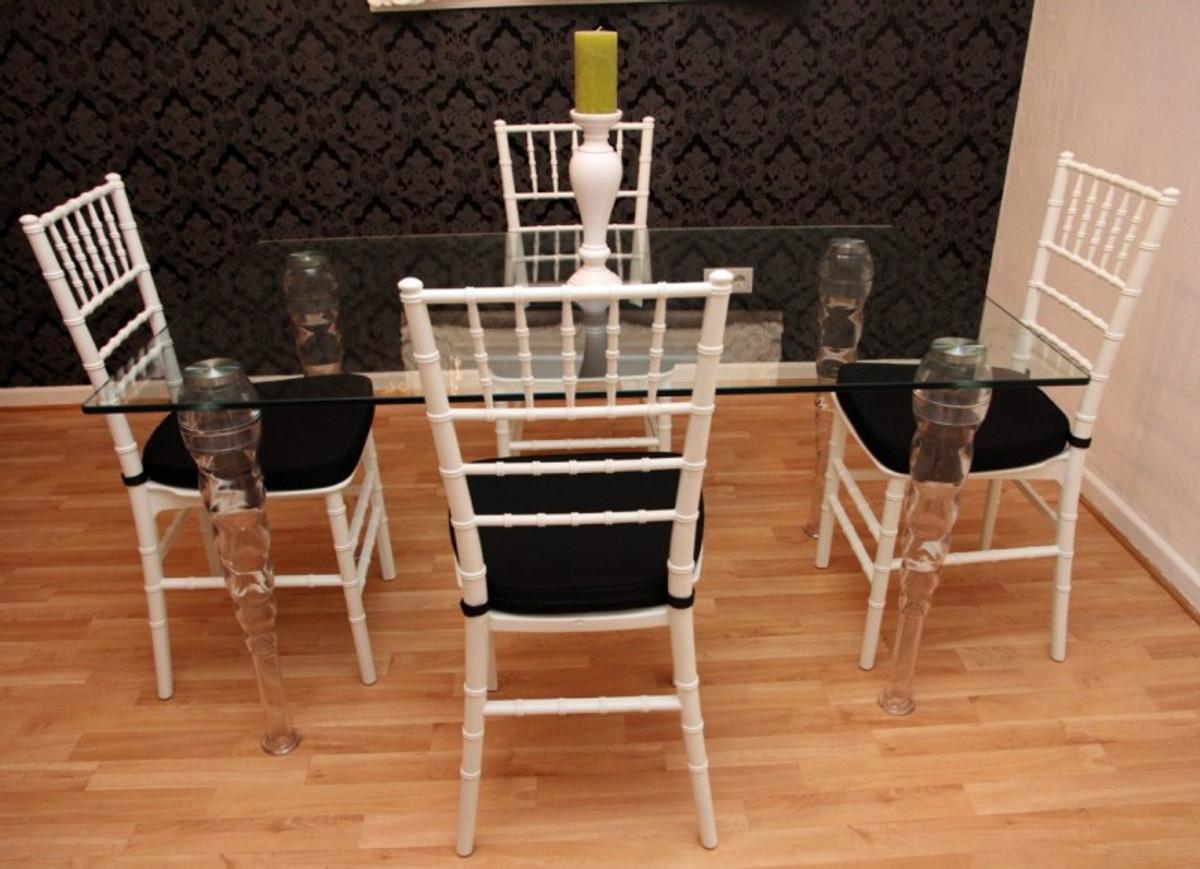 Möbel Für Esszimmer : Designer acryl esszimmer set weiß schwarz ghost chair table