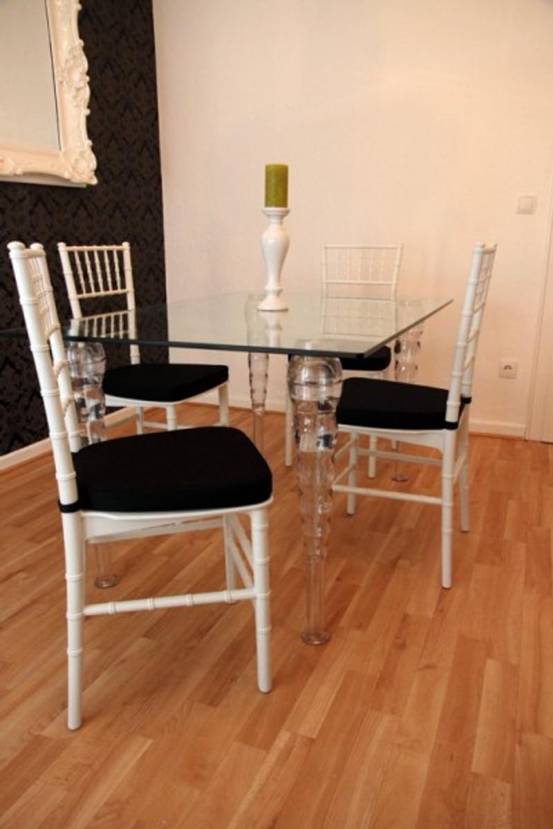 Designer acryl esszimmer set wei schwarz ghost chair for Designer stuhle esszimmer