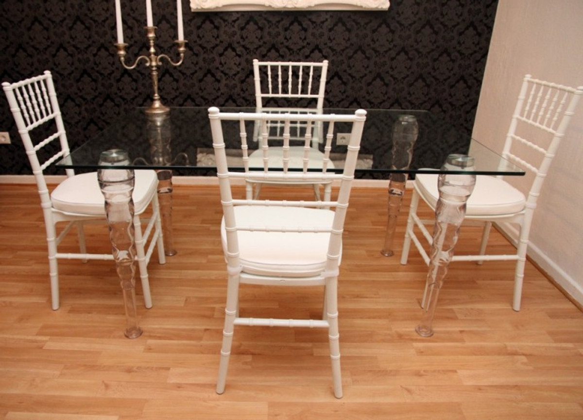 designer acryl esszimmer set wei wei ghost chair table polycarbonat m bel 1 tisch 4. Black Bedroom Furniture Sets. Home Design Ideas