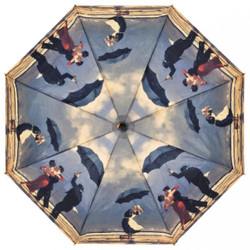 MySchirm Designer Men Singing Butler Jack Vettriano Umbrella Umbrella Elegant gentlemen's umbrella Bild 2