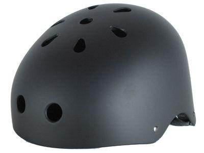 Krown Skateboard Helm Black - Bmx, Inliner, Longboard Helm - Schutzausrüstung