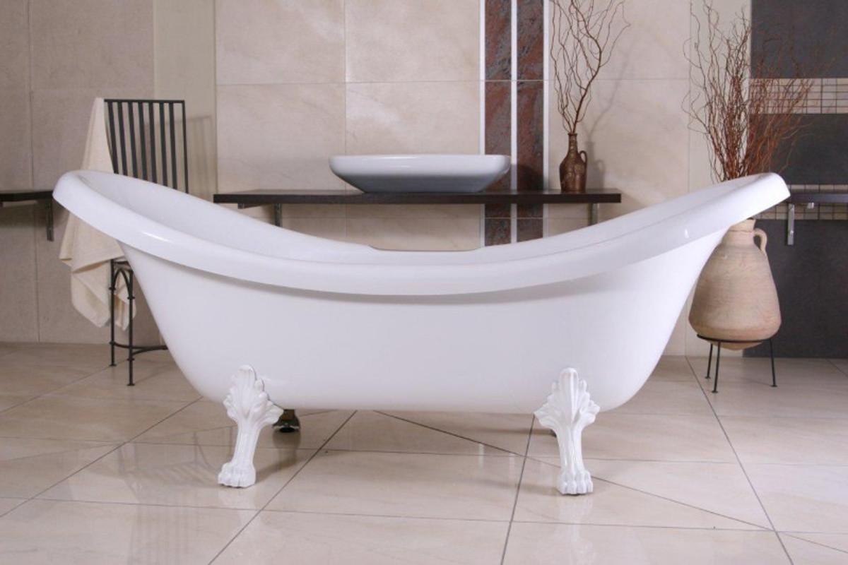 Freistehende Badewanne Antik freistehende luxus badewanne jugendstil venedig weiß weiß 2020 mm