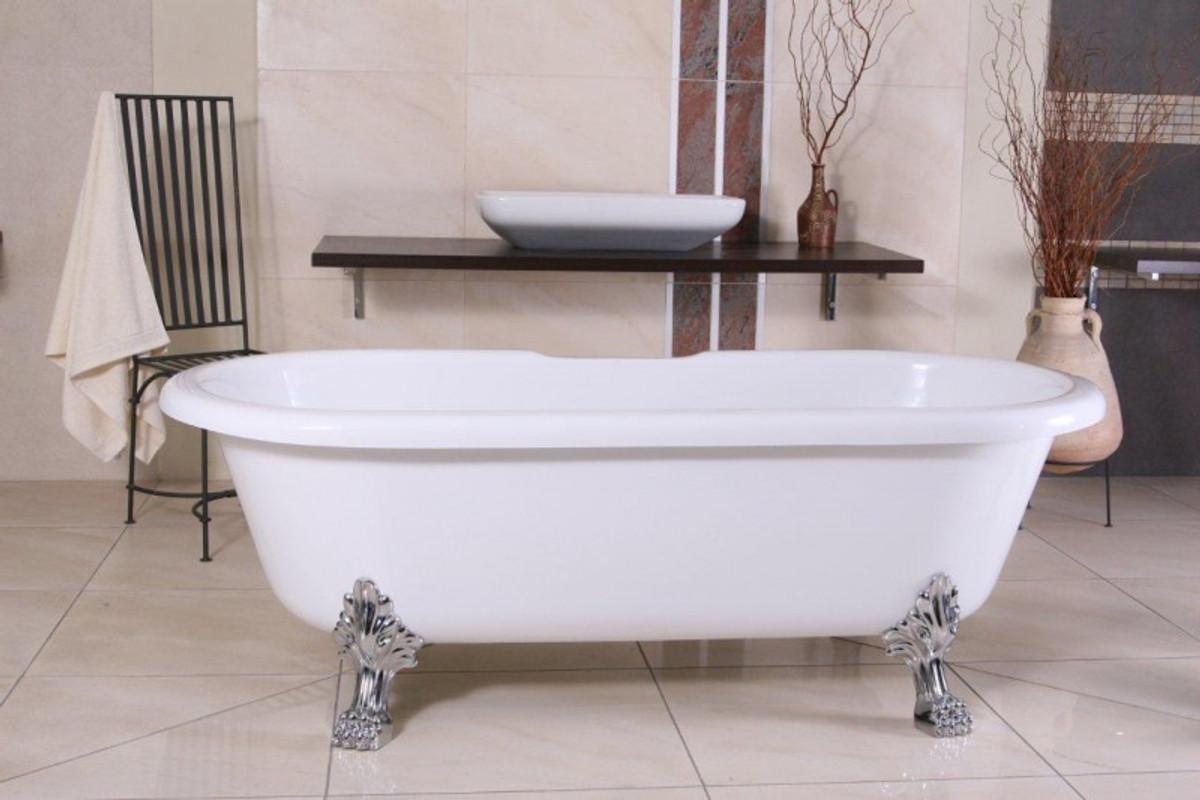 Vasca Da Bagno Troppo Lunga : Staccata di lusso bagno nouveau milano bianco argento barocco