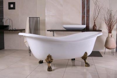 freistehende luxus badewanne jugendstil paris wei altgold 1880mm barock badezimmer. Black Bedroom Furniture Sets. Home Design Ideas