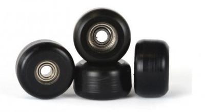 Winkler Wheels Set Classic Black Fingerboard rolls (4 rolls) including ball bearings – Bild 1