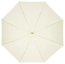 MySchirm designer umbrella Swarovski Elements Model Bling Bling Cream - luxury design - Elegant Umbrella Bild 2