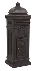 State Mailbox Antique Art Nouveau MOD6 mailbox mail box aluminum - black - column mailbox - mailbox English - Nostalgia Nostalgia