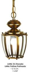 Beautiful pendant in the nostalgic style, width 16 cm, light bulb