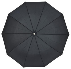 Jean Paul Gaultier designer luxury semi-automatic umbrella made of 10 segments, Black Bild 2