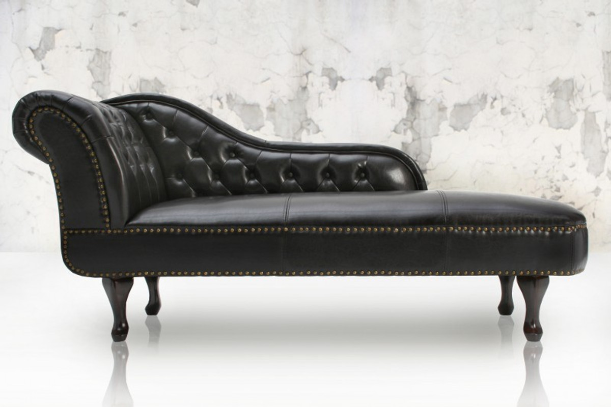 Chesterfield daybed chaise dark brown from the house of - Chaise longue chesterfield ...
