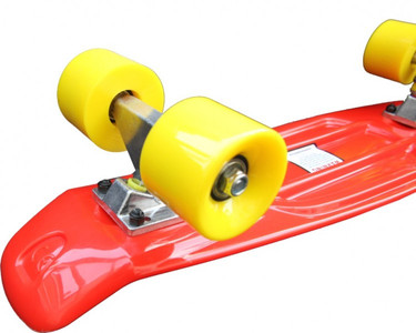 Koston Oldschool Skateboard Plastic Cruiser 70s Style Red/Yellow - 22 x 6.0 inch - Plastik Vinyl Skateboard – Bild 5