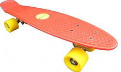 Koston Oldschool Skateboard Plastic Cruiser 70s Style Red/Yellow - 22 x 6.0 inch - Plastik Vinyl Skateboard