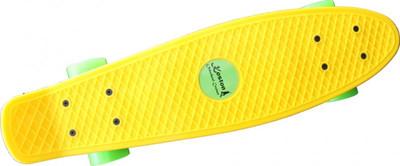 Koston Oldschool Skateboard Plastic Cruiser 70s Style Yellow/Green - 22 x 6.0 inch - Plastik Vinyl Skateboard – Bild 3