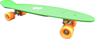 Koston Oldschool Skateboard Plastic Cruiser 70s Style Green/Orange Medium Size - 27.0 x 7.5 inch - Plastik Vinyl Skateboard – Bild 2
